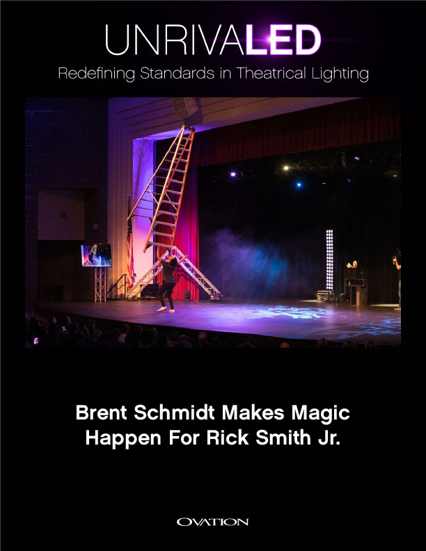 Brent Schmidt Makes Magic Happen For Rick Smith Jr. With CHAUVET Professional Brent Schmidt Makes Magic Happen For Rick Smith Jr. With CHAUVET Professional