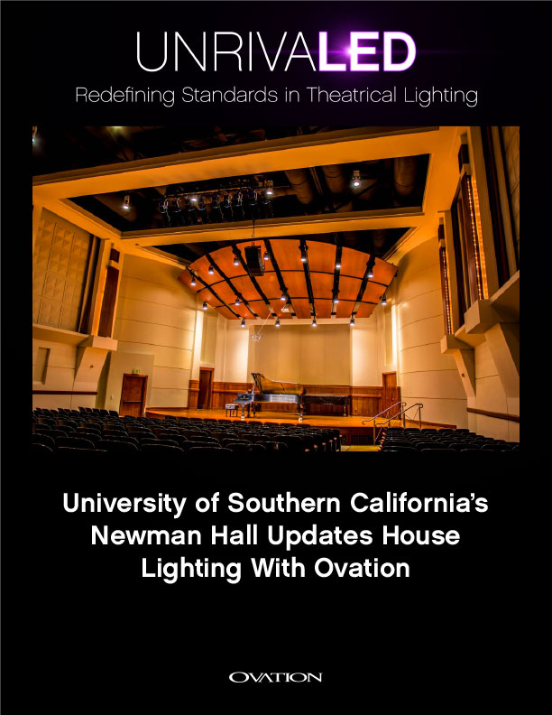 University Of Southern Californias Newman Hall Updates House Lighting With Ovation