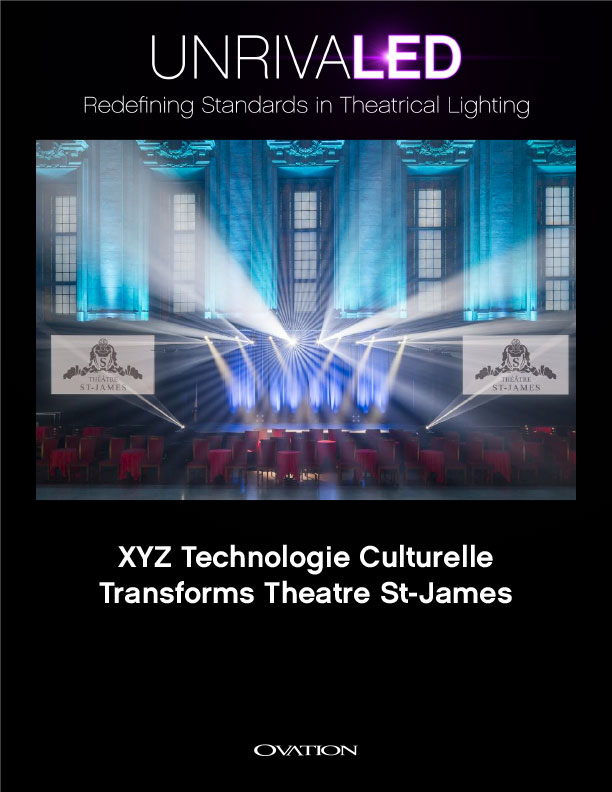 XYZ Technologie Culturelle Transforms Theatre St James With CHAUVET Professional